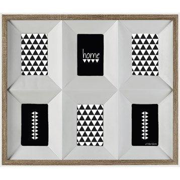 Cadre Multivues 3d, 10 x 15 cm, chêne clair