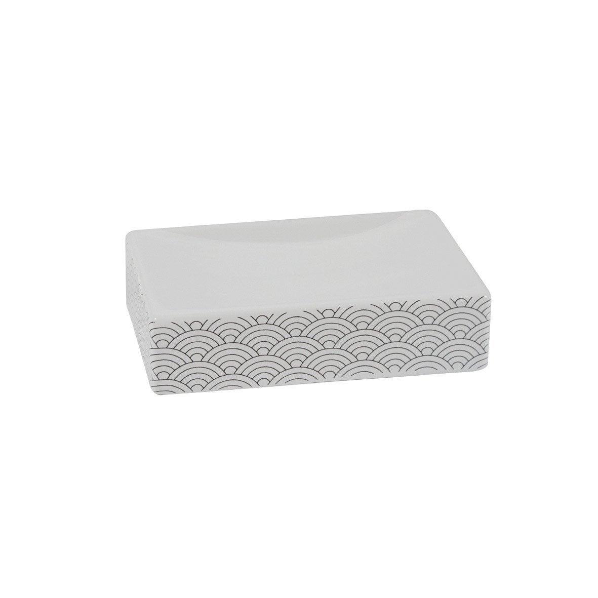 Porte-savon céramique Okino, noir et blanc