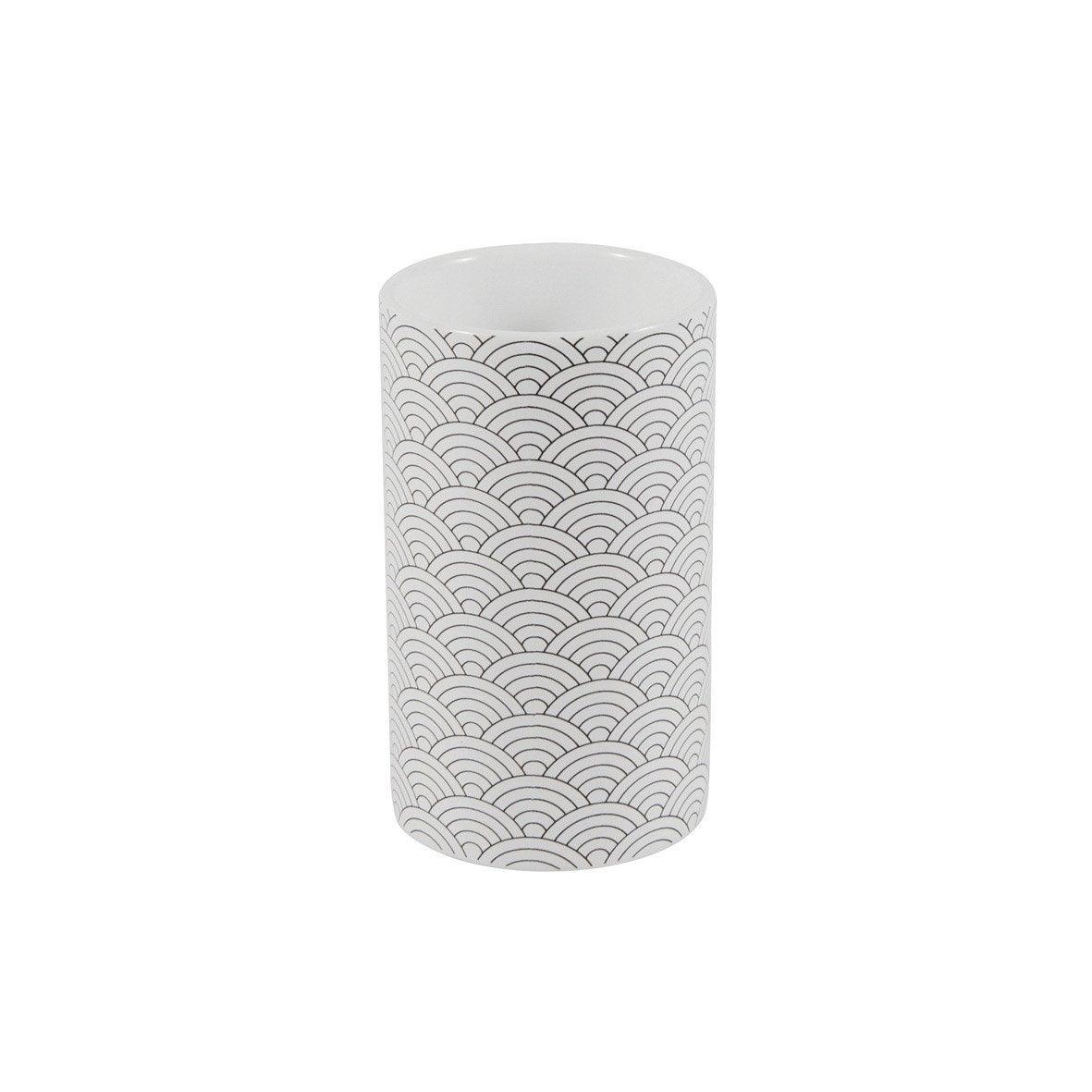 Gobelet céramique Okino, noir et blanc