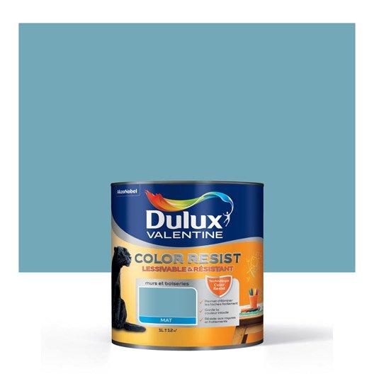 Peinture bleu verre dulux valentine color resist 1 l leroy merlin - Peinture dulux valentine ultra resist bois ...