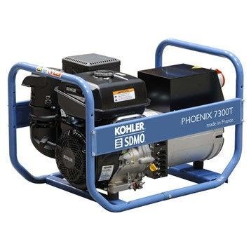 Groupe électrogène essence de chantier SDMO Phoenix 7300, 6500 W