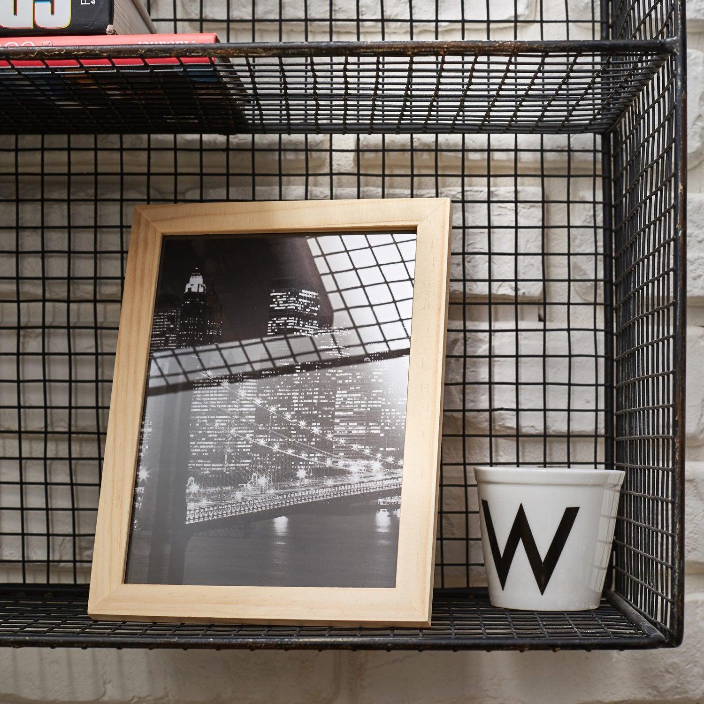 cadre bois brut 10 x 15 cm naturel leroy merlin. Black Bedroom Furniture Sets. Home Design Ideas