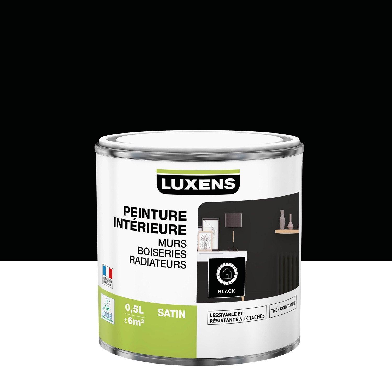 Peinture mur, boiserie, radiateur Multisupports LUXENS, noir, 0.5 l, satin