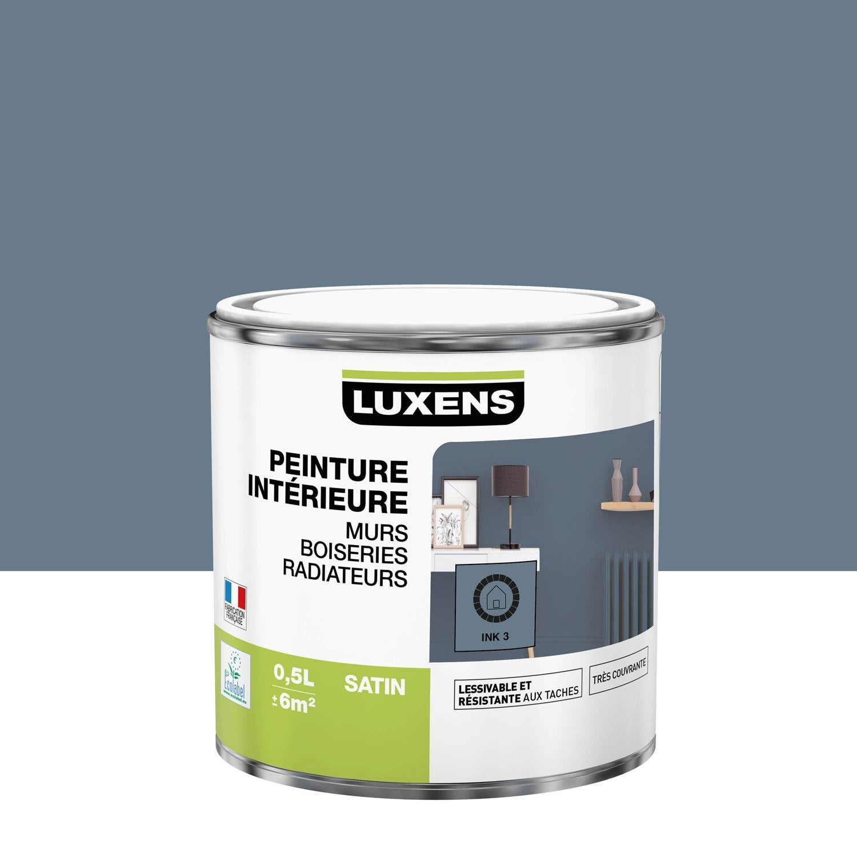 Peinture mur, boiserie, radiateur Multisupports LUXENS, ink 3, 0.5 l, satin