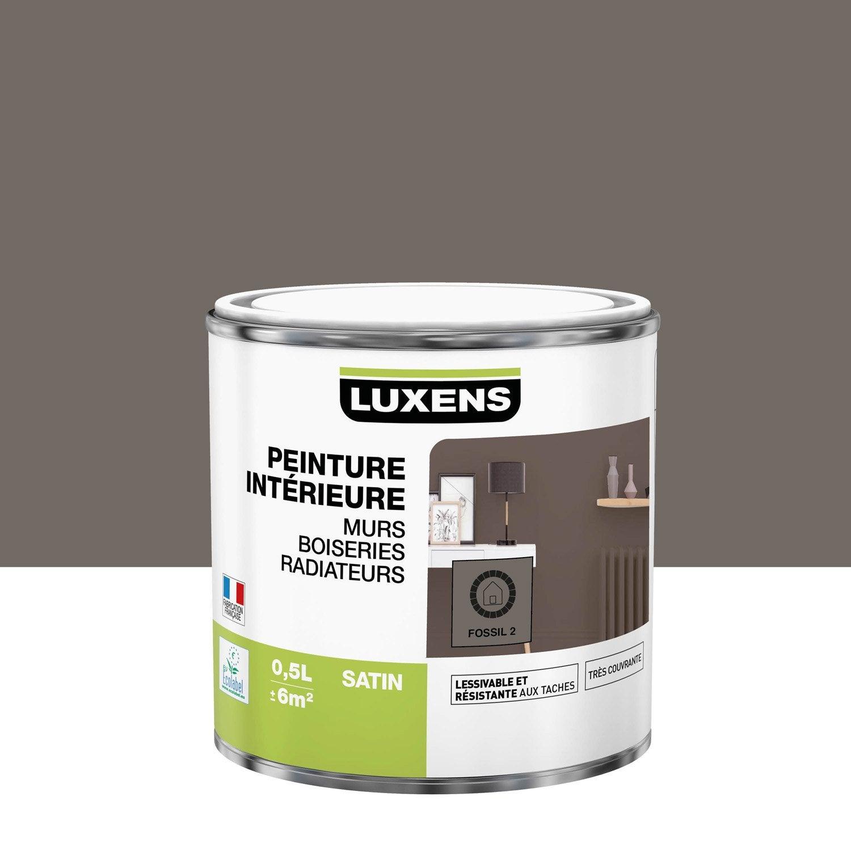 Peinture, mur, boiserie, radiateur, Multisupports LUXENS, fossil 2, satin, 0.5 l