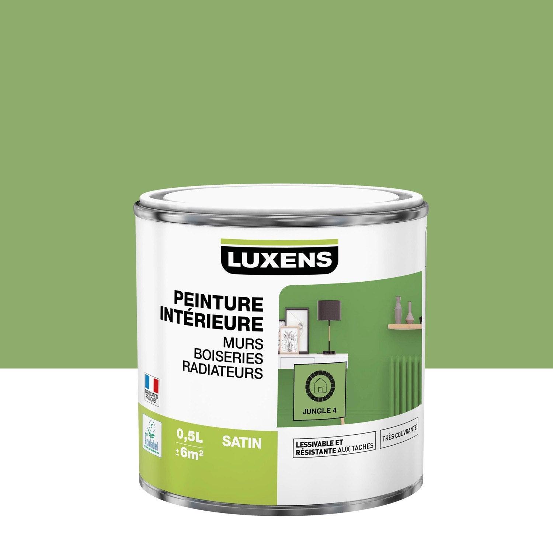 Peinture, mur, boiserie, radiateur, Multisupports LUXENS, jungle 4, satin, 0.5 l