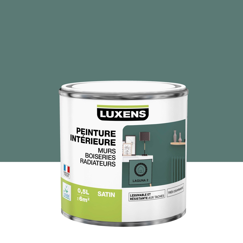 Peinture mur, boiserie, radiateur Multisupports LUXENS, laguna 2, 0.5 l, satin