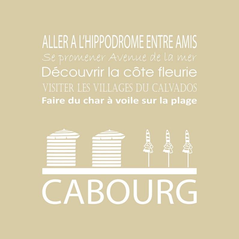 Toile Imprimée Cabourg Beige Artis L30 X H30 Cm