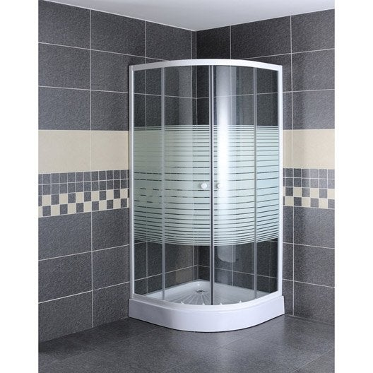 porte de douche coulissante angle 1 4 de cercle 80 x 80 cm s rigraphi primo leroy merlin. Black Bedroom Furniture Sets. Home Design Ideas