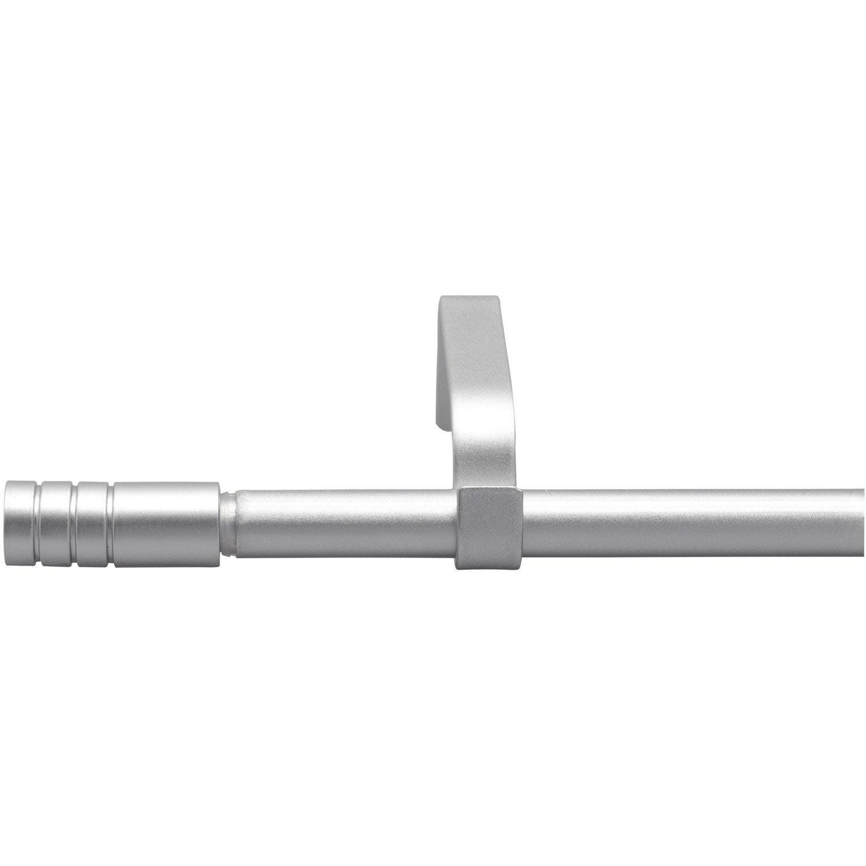 Kit de tringle à rideau extensible Cylindre Diam.16mm gris laqué 120 ...