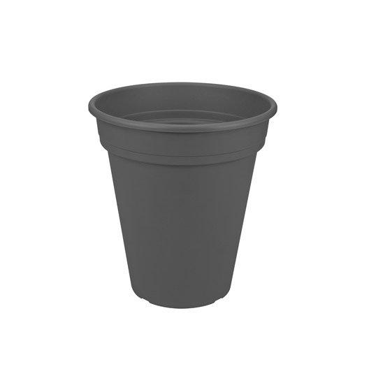 Pot plastique NATERIAL Diam.34.55 L.34.55 x l.34.55 x H.37.99 cm anthracite