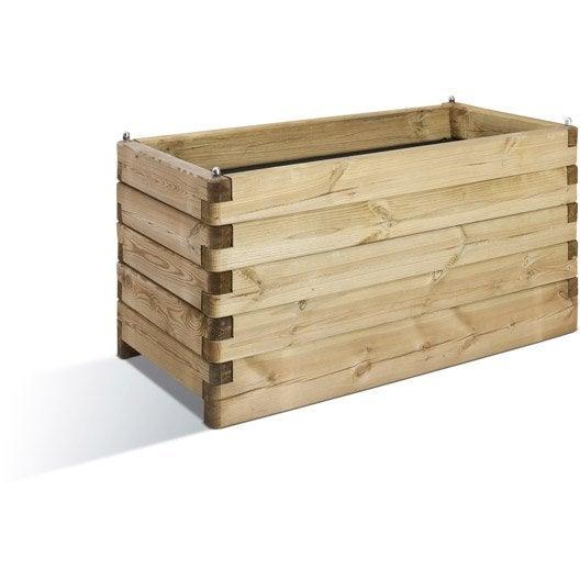 Bac bois BURGER, L.150 cm x l.50 cm x H.50 cm, naturel