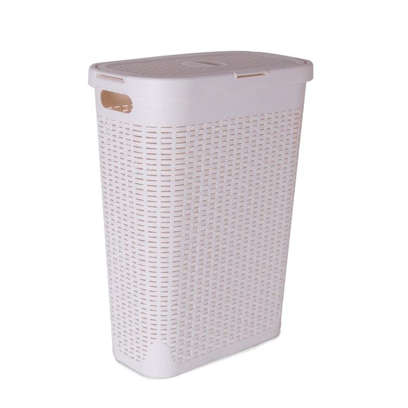 Panier à Linge Plastique Cottage Blanc L268 X H60 X P462 Cm