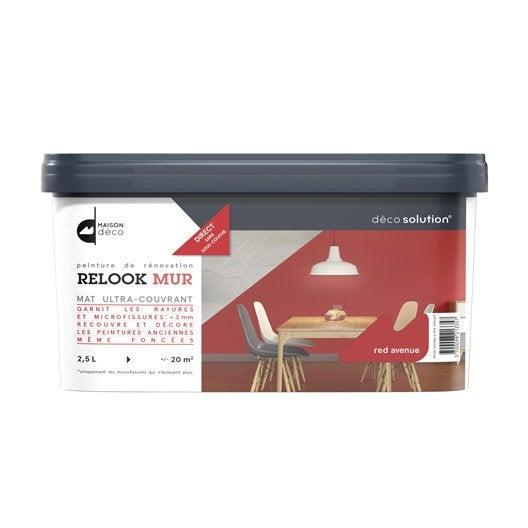 peinture red avenue maison deco relook mur 2 5 l leroy merlin. Black Bedroom Furniture Sets. Home Design Ideas