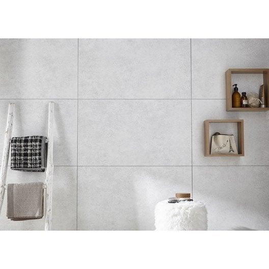 dalle murale pvc blanc x cm x ep 5 mm leroy merlin. Black Bedroom Furniture Sets. Home Design Ideas