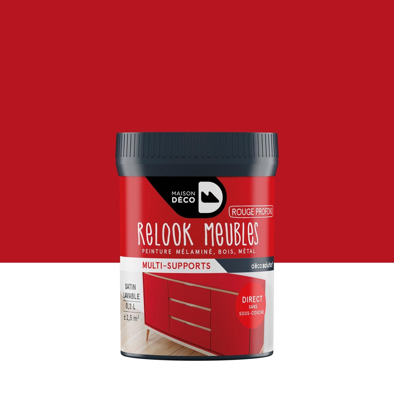 Peinture Pour Meuble, Objet Et Porte, Satiné, MAISON DECO, Rouge Profond 0.2