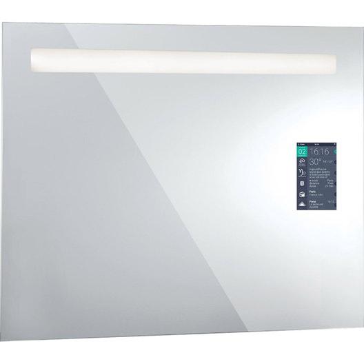 miroir connect lumineux avec clairage int gr x cm miralite connect leroy merlin. Black Bedroom Furniture Sets. Home Design Ideas
