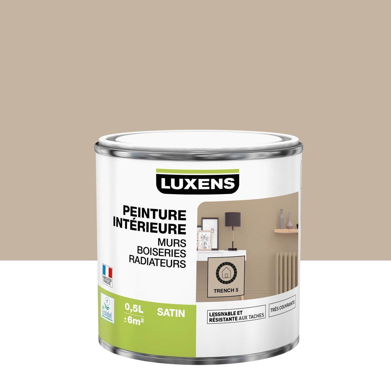 Peinture mur, boiserie, radiateur Multisupports LUXENS, trench 5, 0.5 l, satin