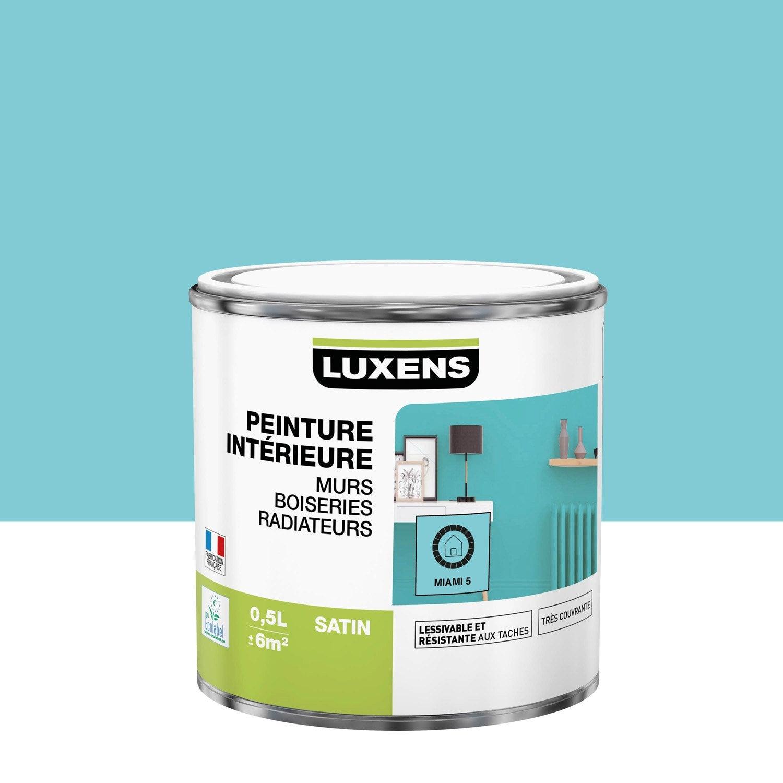 Peinture mur, boiserie, radiateur Multisupports LUXENS, miami 5, 0.5 l, satin