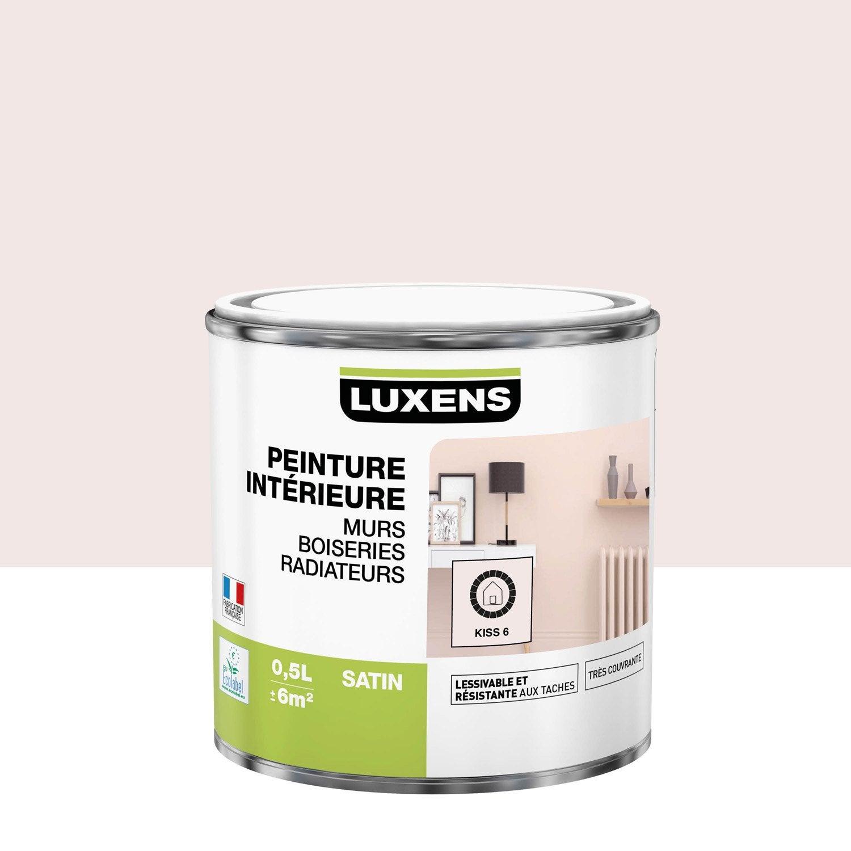 Peinture mur, boiserie, radiateur Multisupports LUXENS kiss 6 satiné 0.5 l