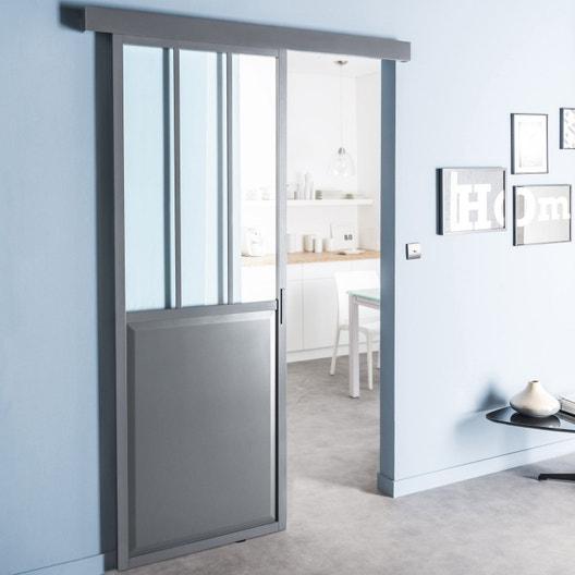 rail coulissant yumbo artens pour porte de largeur 93 cm maximum leroy merlin. Black Bedroom Furniture Sets. Home Design Ideas