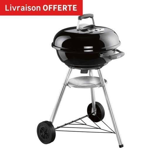 barbecue au charbon de bois weber compact kettle 47 noir leroy merlin. Black Bedroom Furniture Sets. Home Design Ideas