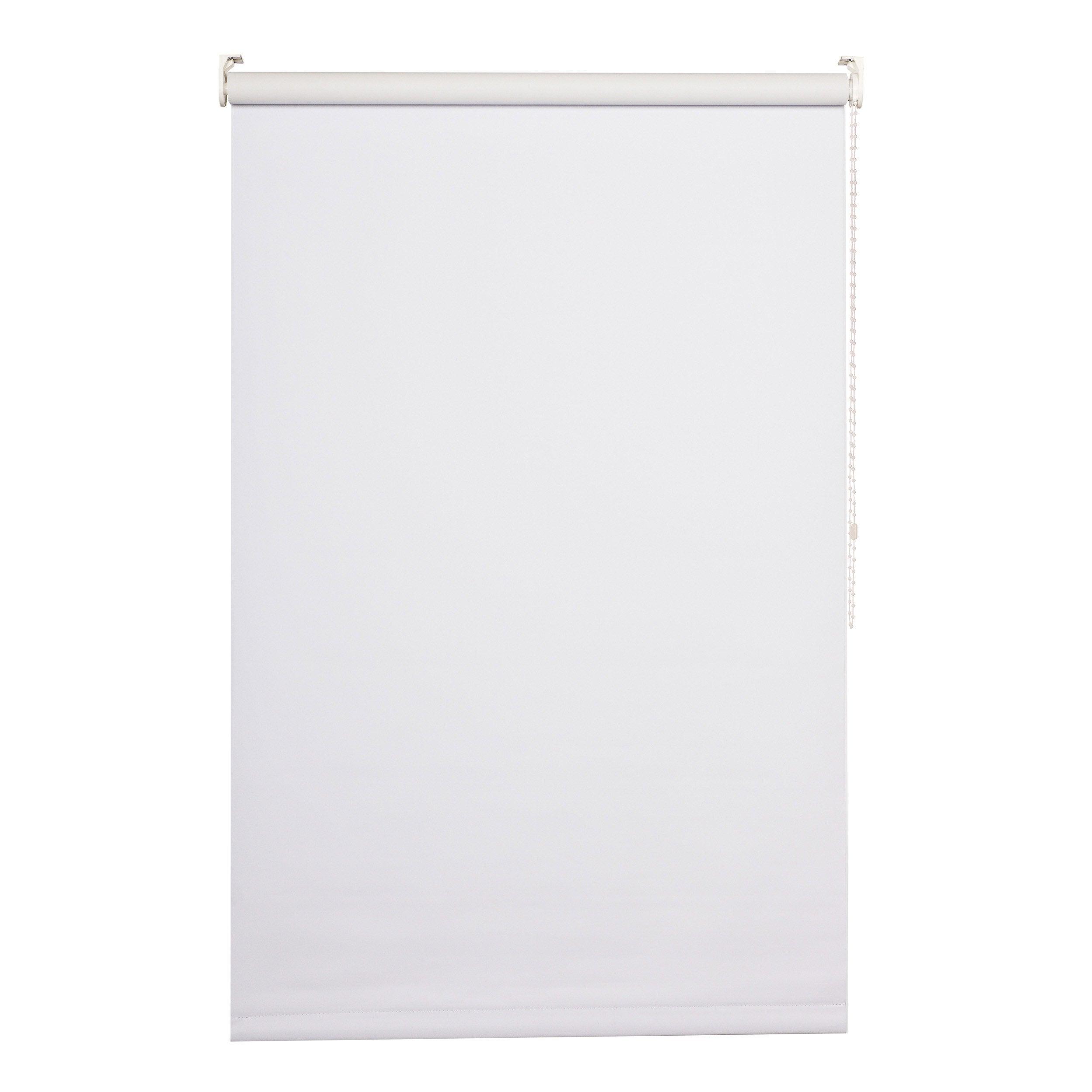 Store enrouleur occultant, blanc Séoul, l.45 x 160 cm