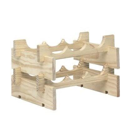 Casier 6 emplacements bois brut