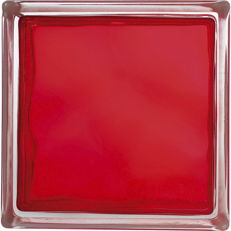 Brique de verre rouge ondul brillant leroy merlin - Brique de verre couleur ...