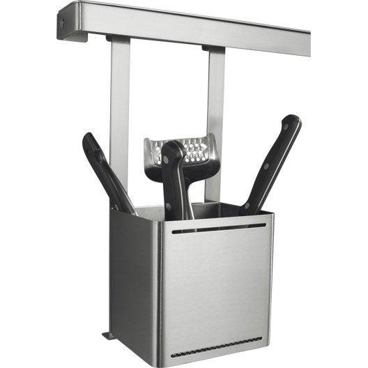 Accessoires muraux de cr dence barre de cr dence range pices au meilleur prix leroy merlin - Range couverts 30 cm ...