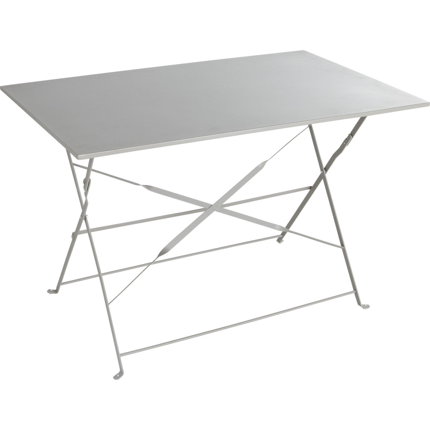 Table de jardin naterial flore rectangulaire gris 4 for Table de cuisine pliante leroy merlin