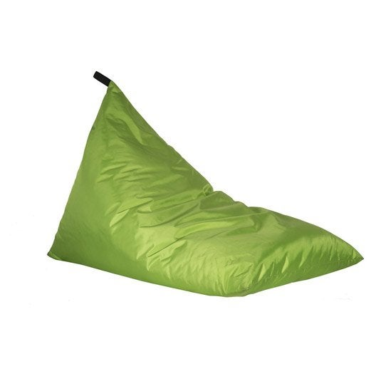 pouf de jardin en tissu berlingot vert leroy merlin. Black Bedroom Furniture Sets. Home Design Ideas
