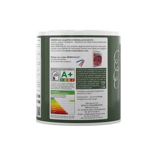 peinture tableau craie vert maison deco gribouille 0 5 l. Black Bedroom Furniture Sets. Home Design Ideas