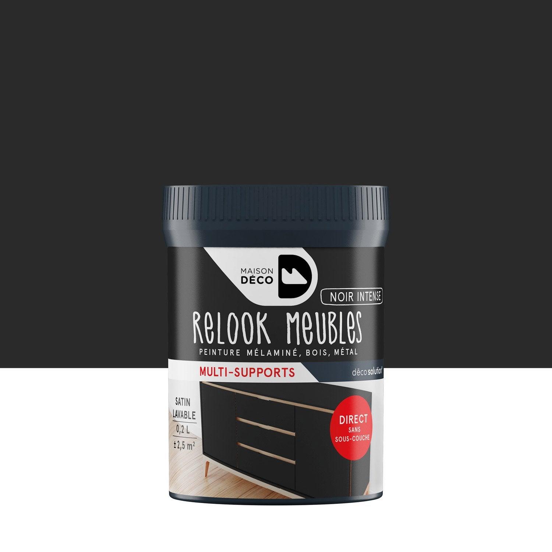 Peinture Pour Meuble, Objet Et Porte, Satiné, MAISON DECO, Noir Intense 0.2