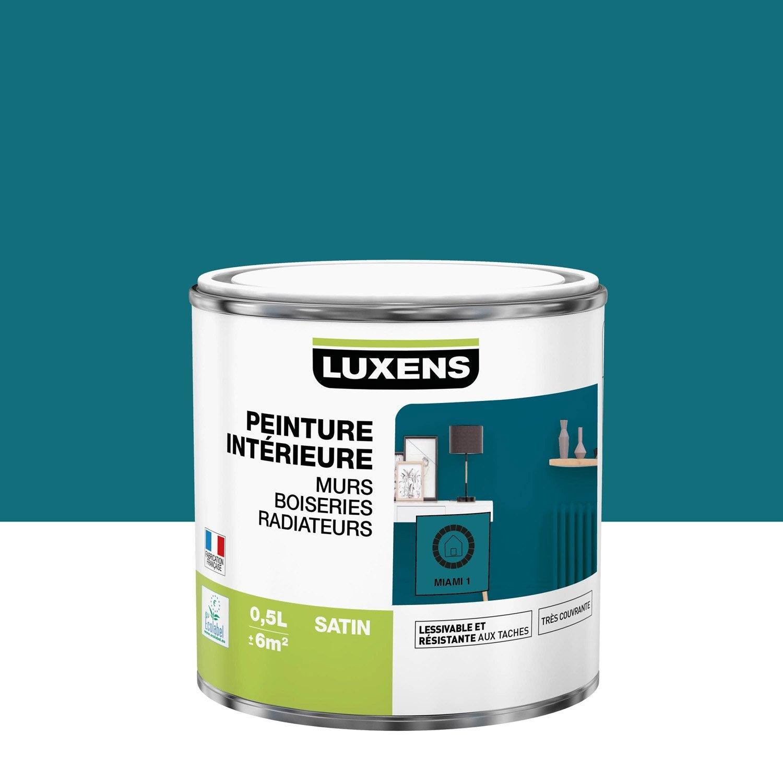 Peinture mur, boiserie, radiateur Multisupports LUXENS, miami 1, 0.5 l, satin