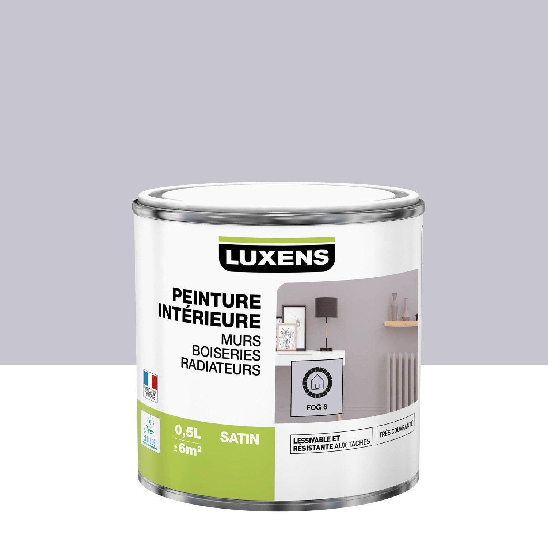 Peinture mur, boiserie, radiateur Multisupports LUXENS, fog 6, 0.5 l, satin
