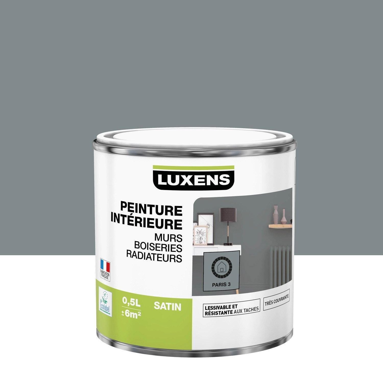 Peinture mur, boiserie, radiateur Multisupports LUXENS, paris 3, 0.5 l, satin
