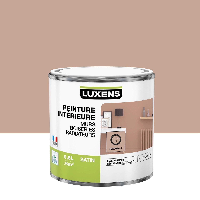 Peinture Multisupports havana 5 satin LUXENS 0.5 l