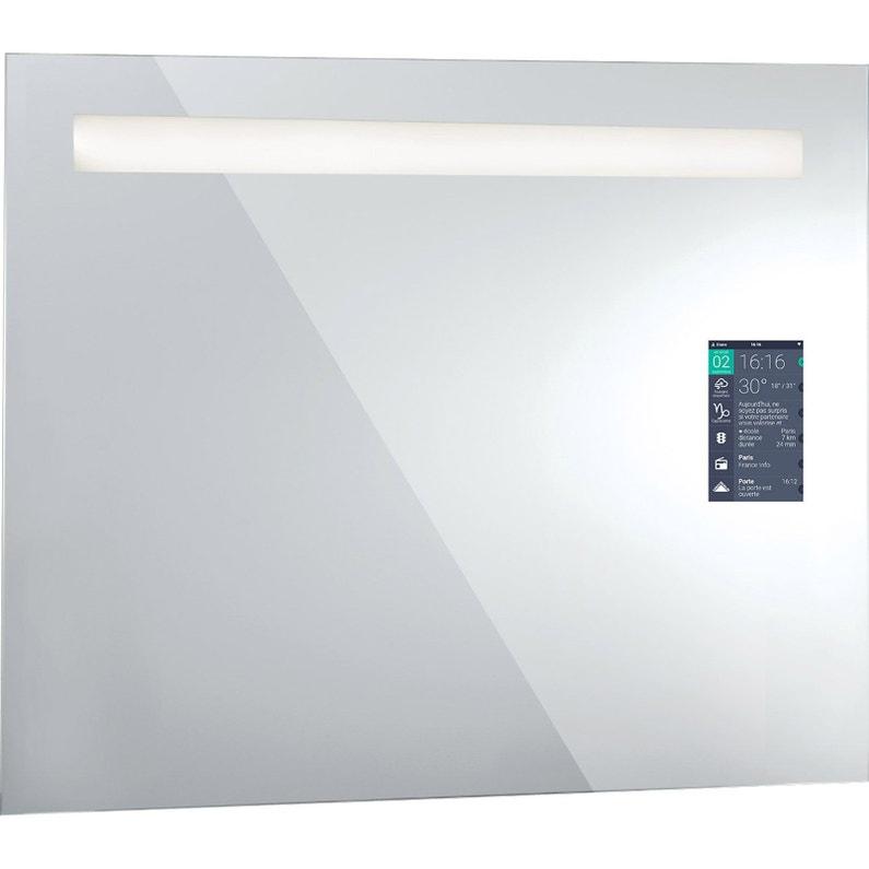 Miroir lumineux avec éclairage intégré, l.90 x H.75 cm Miralite connect