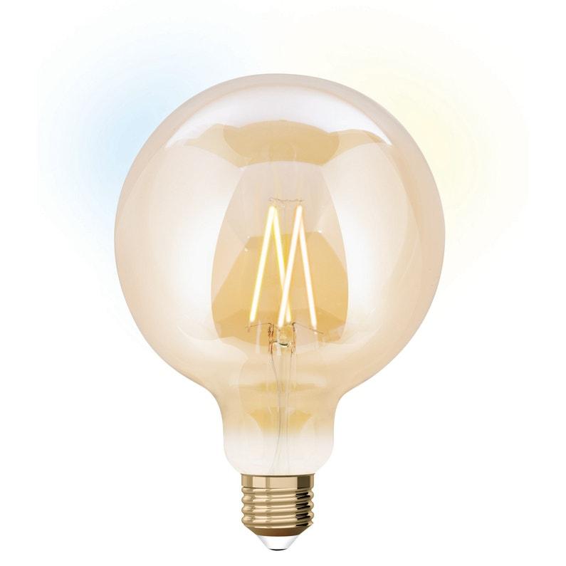 Ampoule Led à Filament Ambré Globe 125 Mm E27 806lm 60w Blancs Variables Jedi