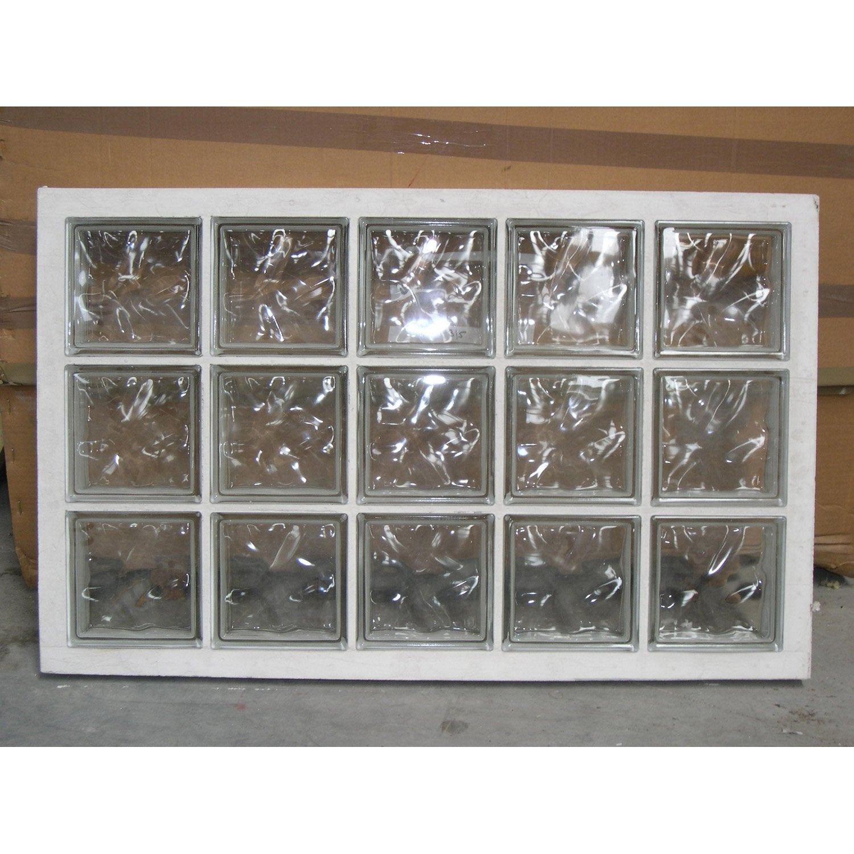 Panneau de 15 briques de verre neutres leroy merlin - Pave de verre salle de bain ...