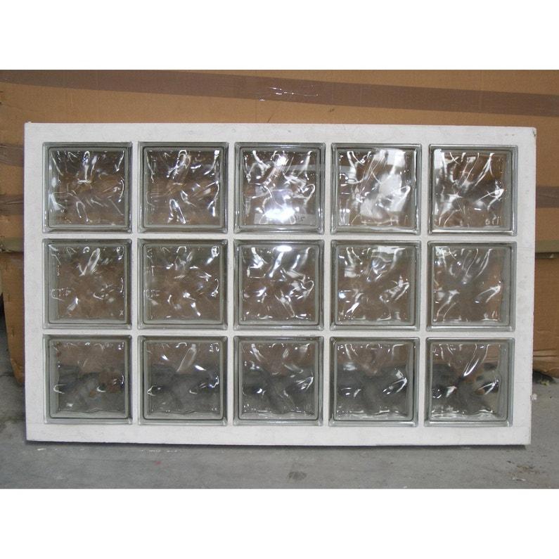 Panneau de 15 briques de verre neutres
