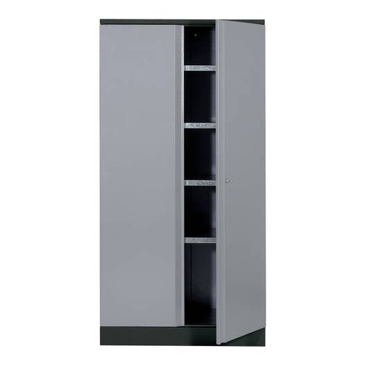 armoire de rangement en m tal gris clair kupper 45 5 cm 1 porte leroy merlin. Black Bedroom Furniture Sets. Home Design Ideas