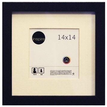 Cadre Lario, 14 x 14 cm, noir-noir n°0