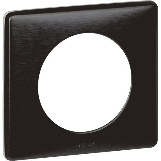 plaque simple c liane legrand carbone new leroy merlin. Black Bedroom Furniture Sets. Home Design Ideas