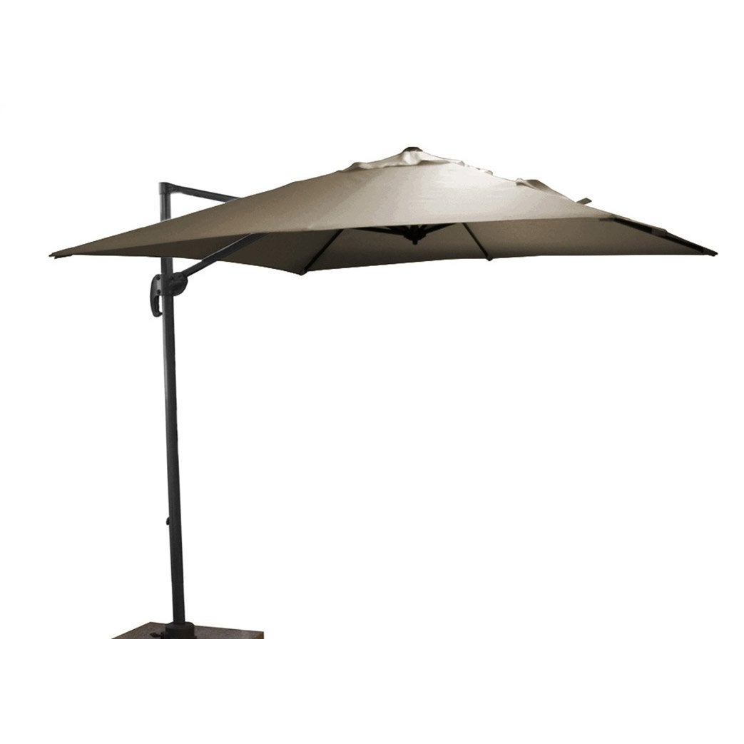 Parasol d port roma taupe carr x cm leroy - Parasol deporte inclinable leroy merlin ...