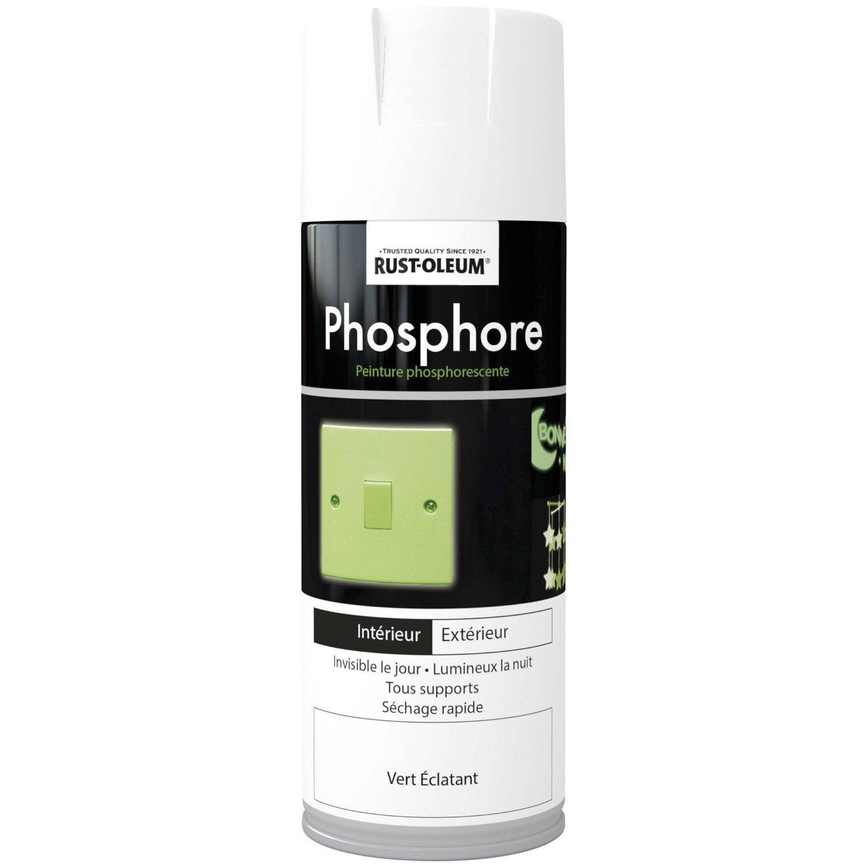 Peinture Aérosol Phosphorescent RUSTOLEUM, Blanc Cassé, 0.4 L