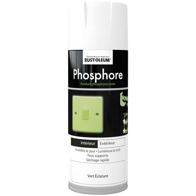 Peinture Aérosol Phosphorescent Rustoleum Blanc Cassé 0 4 L