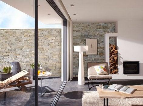 shopping la plaquette de parement s expose dans votre d co leroy merlin. Black Bedroom Furniture Sets. Home Design Ideas