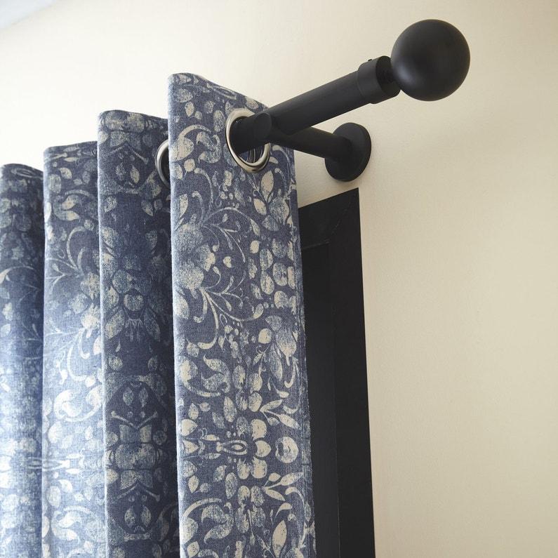 tringle rideau design noir mat 150 cm inspire leroy merlin. Black Bedroom Furniture Sets. Home Design Ideas
